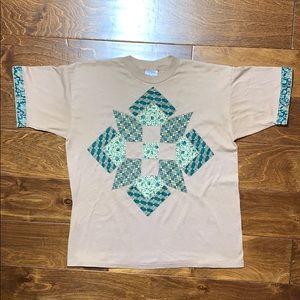 Vintage single stitch shirt cut and sew patchwork